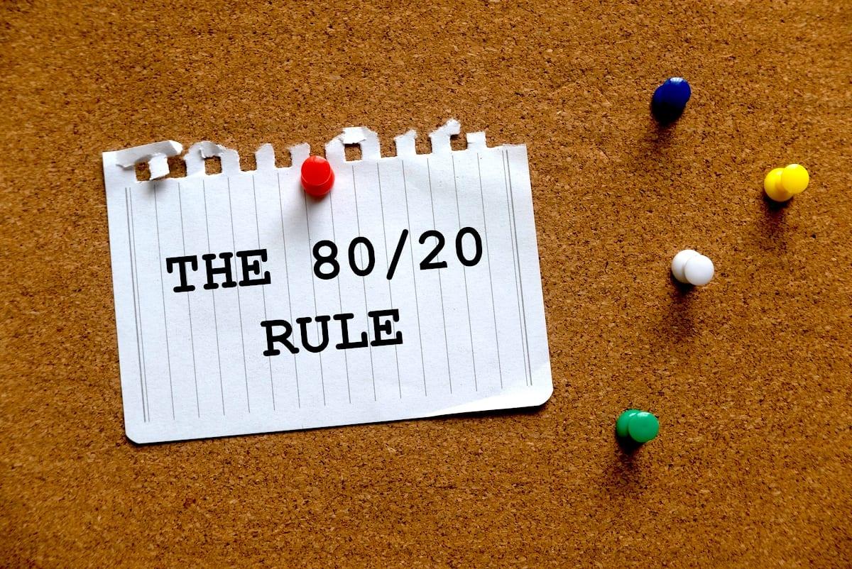 Die 80/20 Regel - Pareto-Prinzip